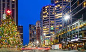 Downtown Cincinnati Ohio USA Christmas Tree